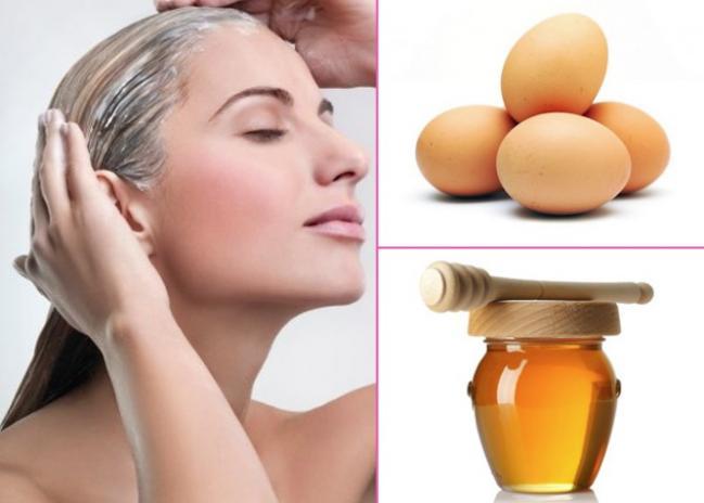 Dưỡng tóc bằng trứng gà mật ong